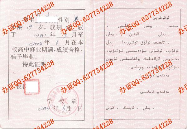 新源县第二中学2004年高中毕业证(页面2)